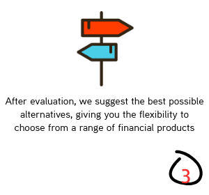 After evaluation, we suggest the best possible alternatives, giving you the flexibility to choose from a range of financial products